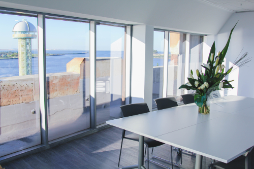Lotus Dermatology Board Room with view of Newcastle Harbour Tower