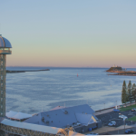 lotus dermatology's view of nobbys beach and newcastle harbour