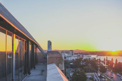 Sunset view from Lotus Dermatology balcony